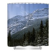 Snow Capped Mountain Shower Curtain
