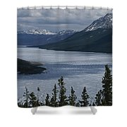Snow-capped Moutains Rise Shower Curtain