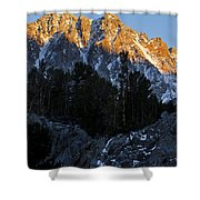 Snow Capped Ridge Shower Curtain