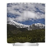 Snow Capped San Juans Shower Curtain