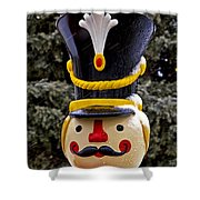 Snow Coverd Toy Soldier Shower Curtain