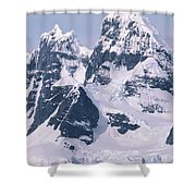 Snow-covered Mountains On Wienke Shower Curtain