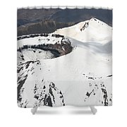 Snow-covered Ngauruhoe Cone, Mount Shower Curtain by Richard Roscoe