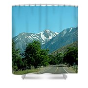Snow Covered Pass Ahead Shower Curtain