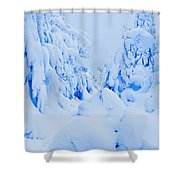 Snow-covered To Vallee Des Fantomes Shower Curtain