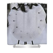 Snow Covered Windmill Shower Curtain