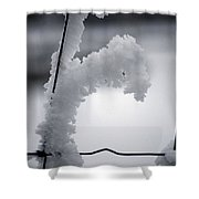 Snow Creature Shower Curtain