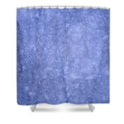 Snow Falling In The Forest Shower Curtain