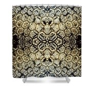 Snow Fence - Abstract Shower Curtain