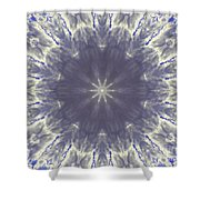 Snow Flake Crystal Shower Curtain