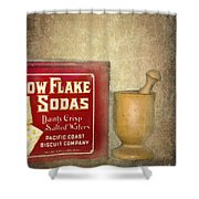 Snow Flake Soda Crackers Shower Curtain