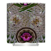 Snow Flowers And Orchids In Heavenly Wisdom Shower Curtain