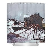 Snow In Elbasan Shower Curtain