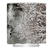 Snow Laden Branches II Shower Curtain