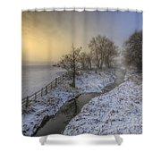 Snow Landscape Sunrise 2.0 Shower Curtain