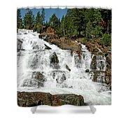 Snow Melt Glen Alpine Falls Shower Curtain