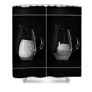 Snow Melting Shower Curtain