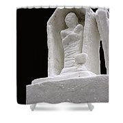 Snow Mummy Shower Curtain