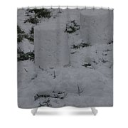 Snow Pillers Shower Curtain