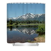 Snow Reflections Mt Tallac Shower Curtain