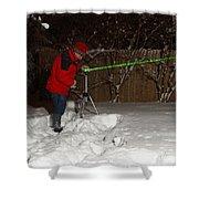 Snow Researcher Shower Curtain
