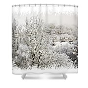 Snow Scene 1 Shower Curtain