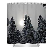 Snow Sun Shower Curtain