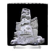 Snow Totem Pole Shower Curtain