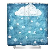 Snow Winter Shower Curtain