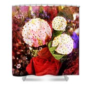 Snowball Plant Abstract 4 Shower Curtain
