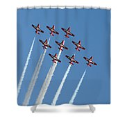 Snowbirds In The Big Diamond Formation Shower Curtain