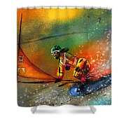 Snowboarding 03 Shower Curtain