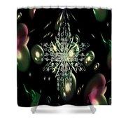 Snowflake Bubble Glass Shower Curtain