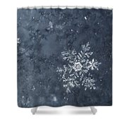 Snowflake In Blue Shower Curtain