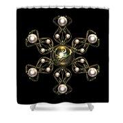 Snowflake Jewel Shower Curtain