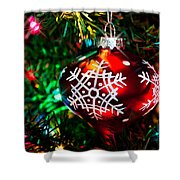 Snowflake Ornament Shower Curtain
