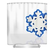 Snowflake With Reflection Shower Curtain