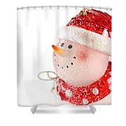 Snowman Figure Shower Curtain