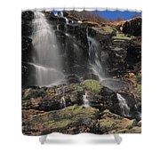 Snowmelt Waterfalls In Tuckermans Ravine Shower Curtain