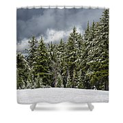 Snowstorm In The Cascades Shower Curtain