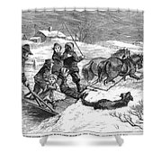 Snowstorm In The Country Shower Curtain