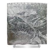 Snowy And Hazy Central Russia Showing Shower Curtain