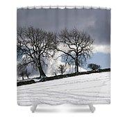 Snowy Field, Weardale, County Durham Shower Curtain by John Short