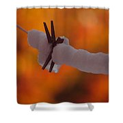 Snowy Halloween Shower Curtain