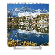 Snowy Reflections On Lake Shower Curtain