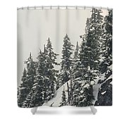 Snowy Ridge Near Snoqualmie Pass Shower Curtain