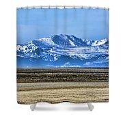 Snowy Rockies Shower Curtain