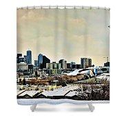 Snowy Seattle Shower Curtain