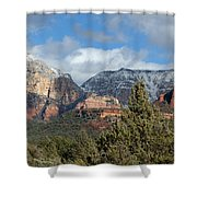 Snowy Sedona Afternoon Shower Curtain