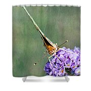 So What Butterfly Shower Curtain
